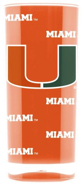 Miami Hurricanes Insulated Tumbler Cup 20oz NCAA Licensed
