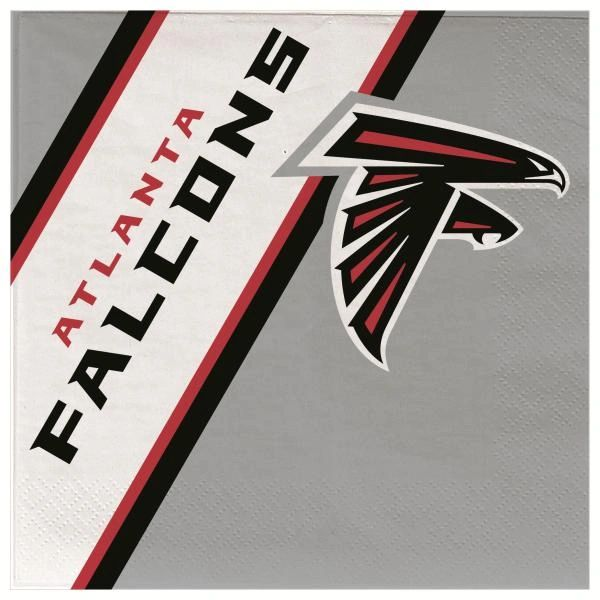 Atlanta Falcons Disposable Paper Napkins 20 Count Partyware