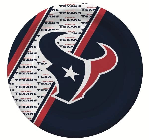 "Houston Texans 10"" Disposable Paper Plates 20 Count Partyware"