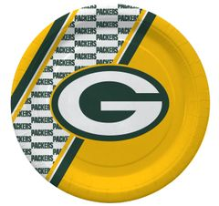 "Green Bay Packers 10"" Disposable Paper Plates 20 Count Partyware"