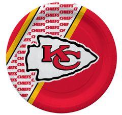 "Kansas City Chiefs 10"" Disposable Paper Plates 20 Count Partyware"