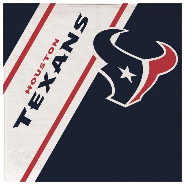 Houston Texans Disposable Paper Napkins 20 Count Partyware