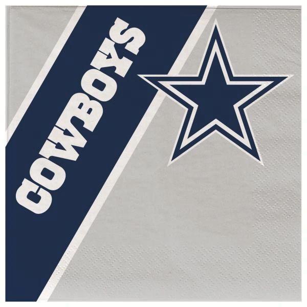 Dallas Cowboys Disposable Paper Napkins 20 Count Partyware