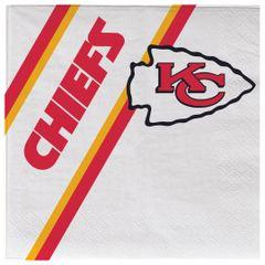 Kansas City Chiefs Disposable Paper Napkins 20 Count Partyware