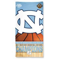North Carolina Tar Heels 2017 Champions Beach Towel NCAA Licensed