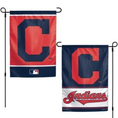 "Cleveland Indians Garden Flag 2 Sided 12"" x 18"" MLB Licensed"