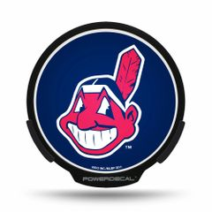 Cleveland Indians Wahoo LED Window Decal Light Up Logo Powerdecal