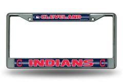 Cleveland Indians Chrome Bling License Plate Frame MLB Licensed