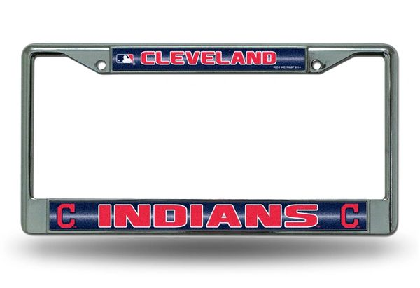 Cleveland Indians Chrome Bling License Plate Frame MLB Licensed