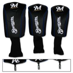 Milwaukee Brewers Golf Club Covers Headcovers 3 pack MLB Licensed