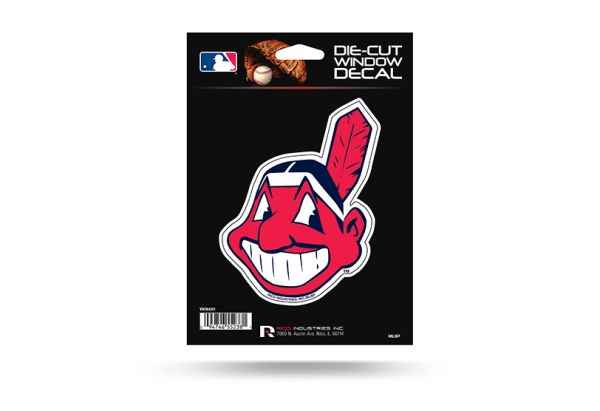Cleveland Indians Chief Wahoo Window Decal MLB Licensed