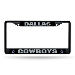 Dallas Cowboys BLACK Chrome Metal License Plate Frame NFL Licensed