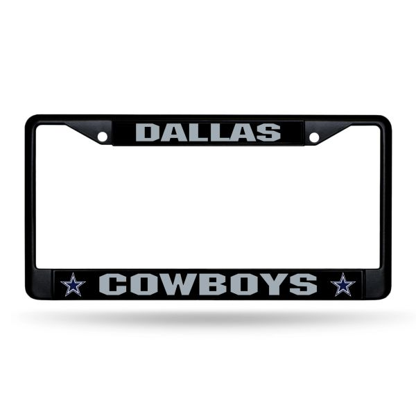 Dallas Cowboys BLACK Chrome Metal License Plate Frame NFL Licensed