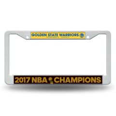 "Golden State Warriors ""2017 Finals Champions"" License Plate Frame NBA"