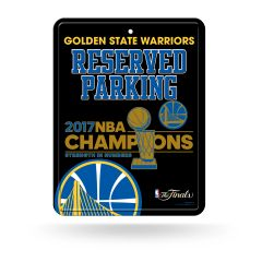 Golden State Warriors 2017 Finals Champions Metal Reserved Parking Sign NBA Licensed