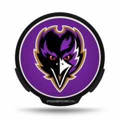 Baltimore Ravens LED Window Decal Light Up Logo Powerdecal NFL