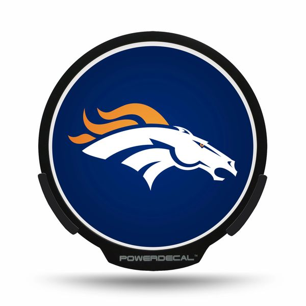 Denver Broncos LED Window Decal Light Up Logo Powerdecal NFL