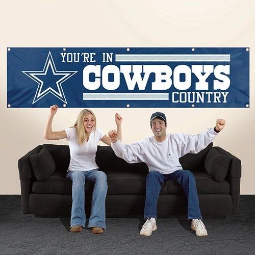 Dallas Cowboys 2' x 8' Wall Banner Flag NFL Licensed