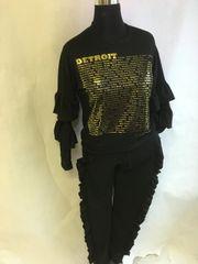 Remix Ruffle Jogging Suit