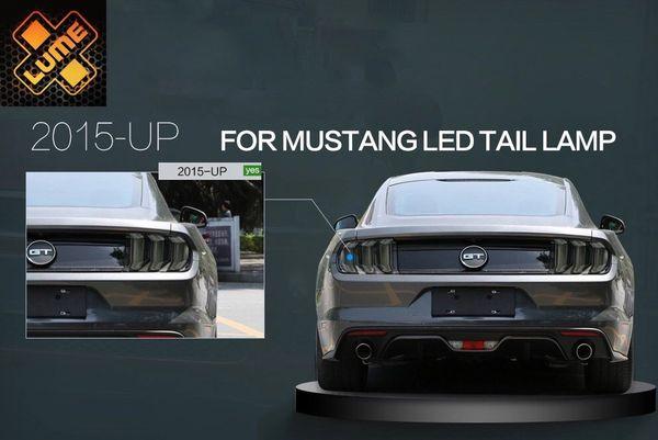 Mustang 2015 Tail Lights Smoked X Lume Illuminated