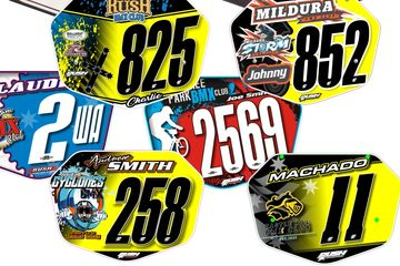 Rush Industries Club & Team BMX Plates