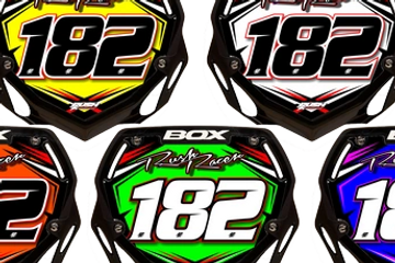 Rush Industries Semi Custom BMX Number Plates