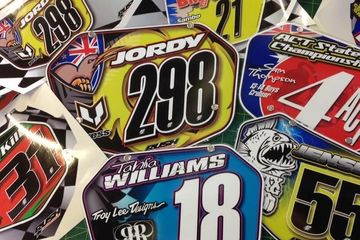 Rush Industries Custom BMX Number Plates