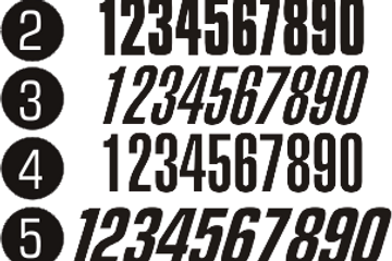 Rush Industries BMX Numbers