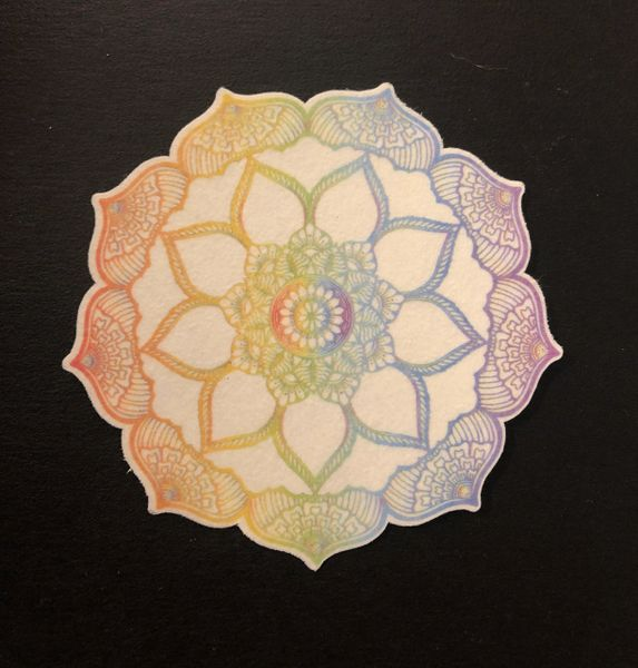 Flower Mandala Design Silly Patch
