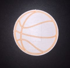 BasketBall Design Silly Patch