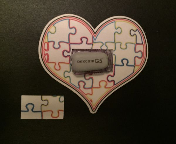 Heart of Autism Design Silly Patch