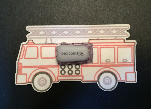 Firetruck Designed Silly Patch