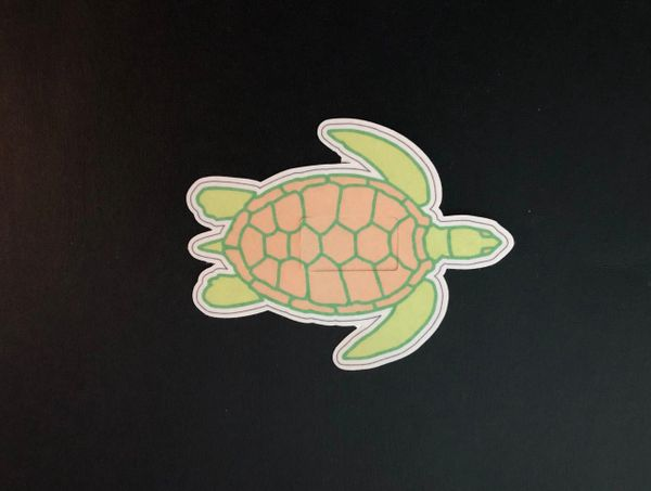 Sea Turtle Design Silly Patch