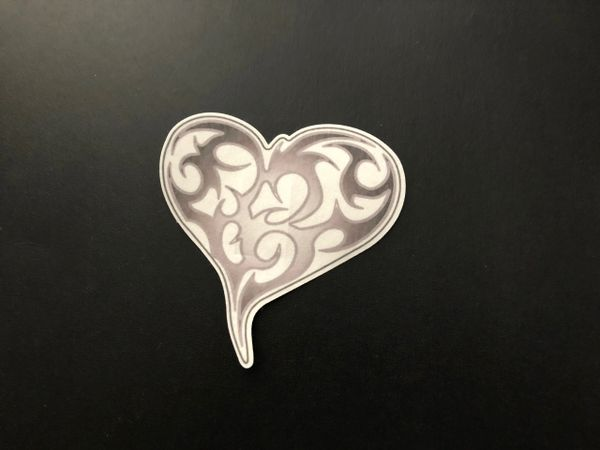 Tribal Heart Design Silly Patch