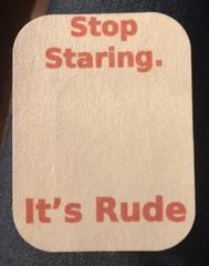 Stop Staring. Its Rude Silly Patch