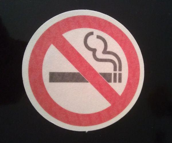 No Smoking Design Silly Patch