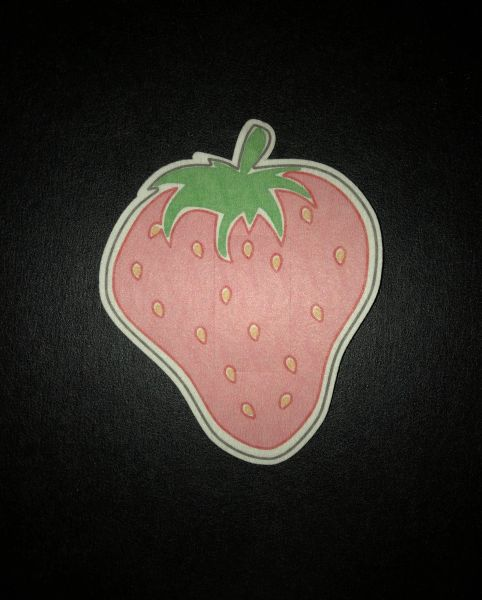 Strawberry Design Silly Patch