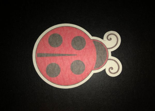 Lady Bug Design Silly Patch
