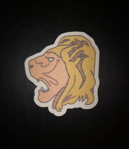 Lion Head Design Silly Patch