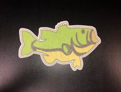 Largemouth Bass Design Silly Patch