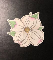 Dogwood Flower Design Silly Patch