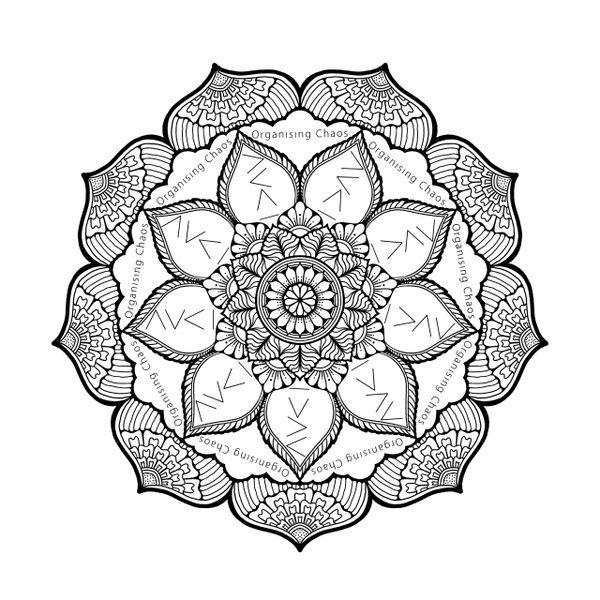 Flower Mandala Design Silly Patch
