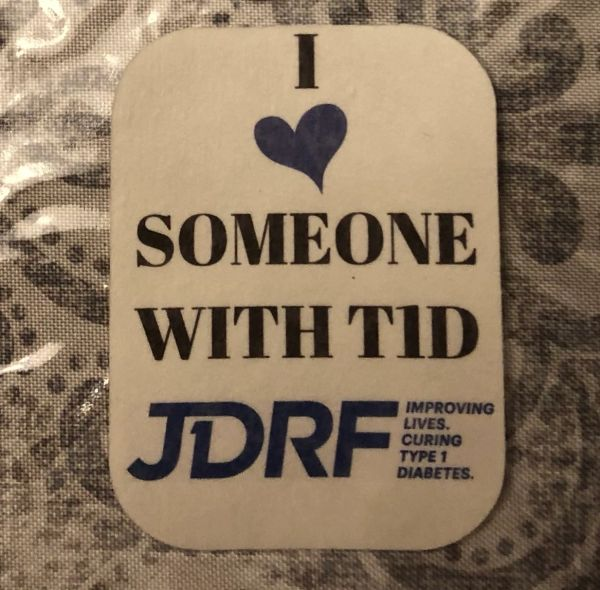 I heart someone with T1D JDRF Design Silly Patch