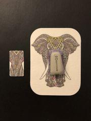 Zen Elephant Design Silly Patch