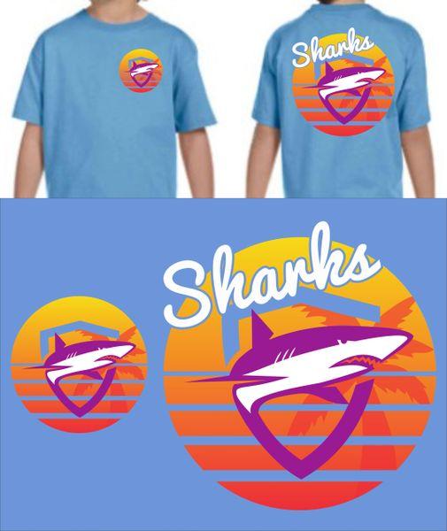 SHARKS ABIGAIL HILLIARD ORIGINAL DESIGN - SUMMER 2020 YOUTH