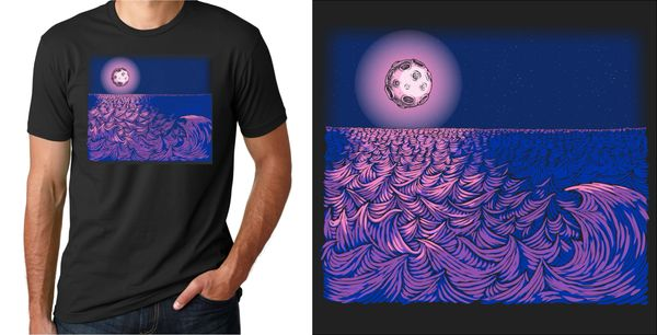 WAVESCAPE 2-COLOR T-SHIRT