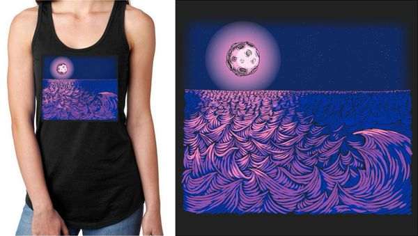 WAVESCAPE 2-COLOR LADIES' TANK