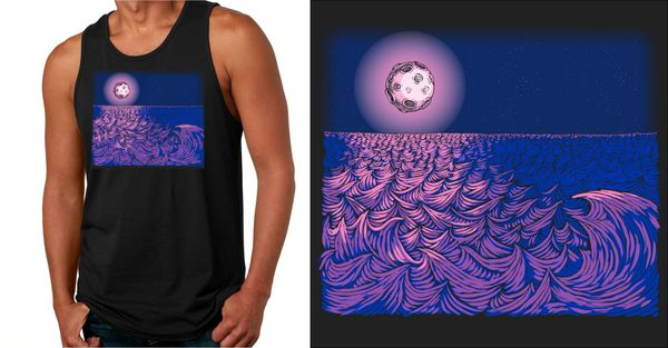 WAVESCAPE 2-COLOR UNISEX TANK