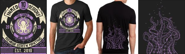 INKED DESIGNS 10 YEAR ANNIVERSARY T-SHIRT