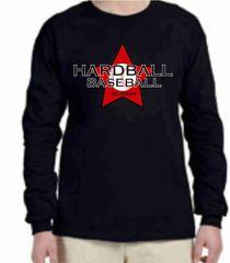 Hardball Academy Baseball Star Logo Long Sleeve